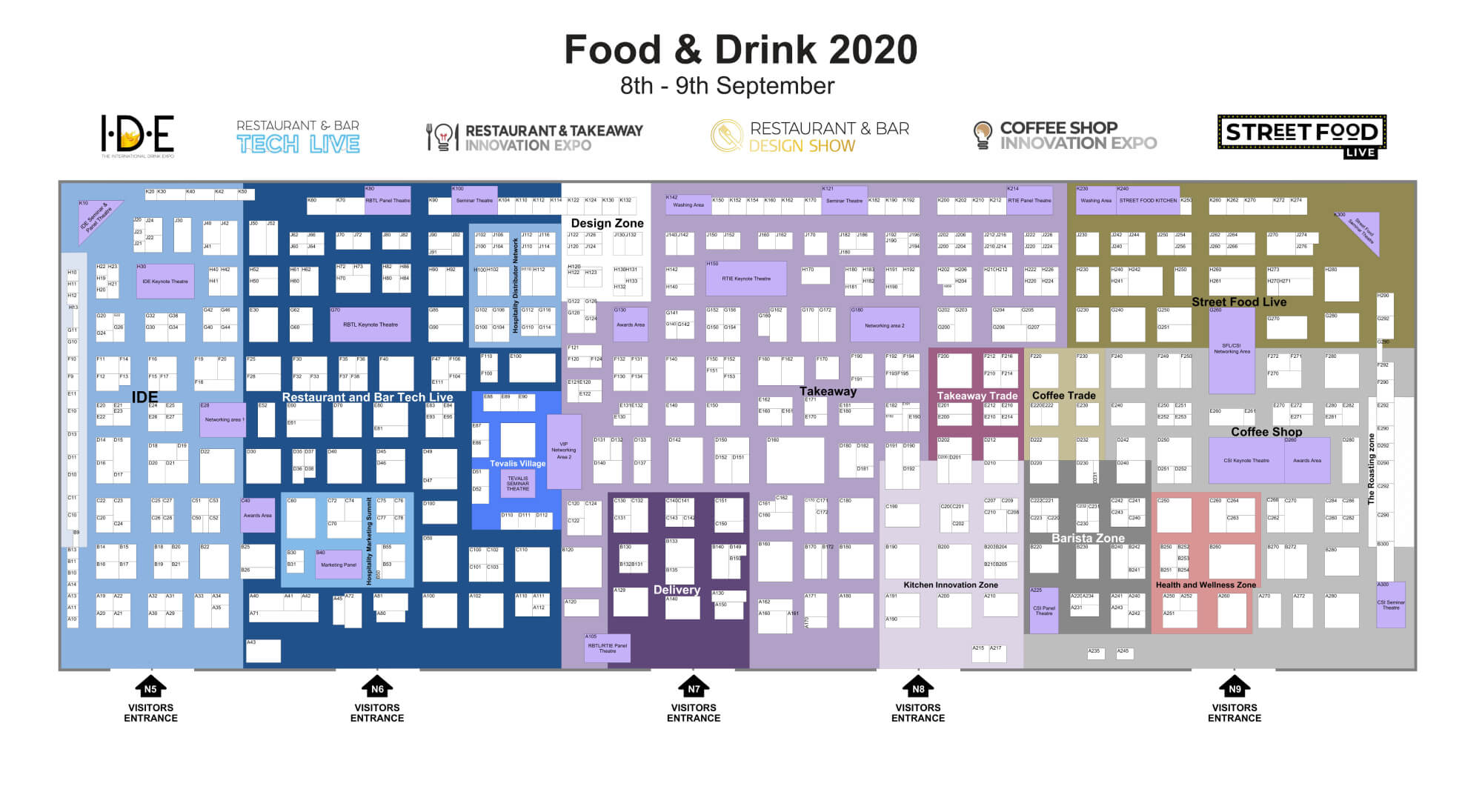 The International Drink Expo floorplan